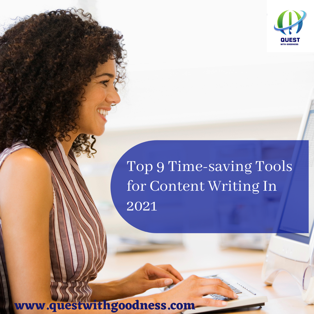 A writer using tools for content writing